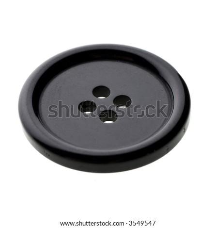 black spare button - stock photo