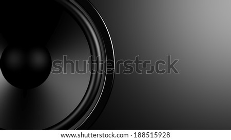 Black speaker closeup background with copy-space  - stock photo