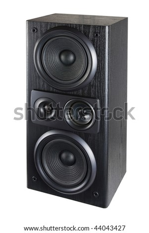 black speaker system - stock photo