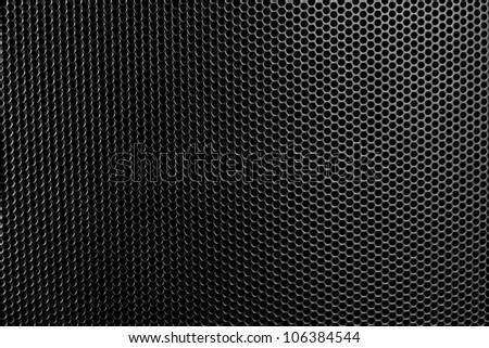 Black speakers. - stock photo