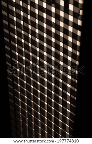 Black squares, white lines, abstract pattern - stock photo
