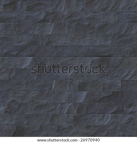 black stone wall - stock photo