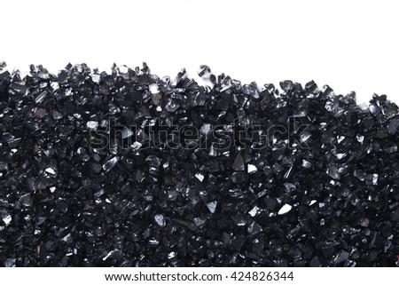 black stones texture with copy space - stock photo