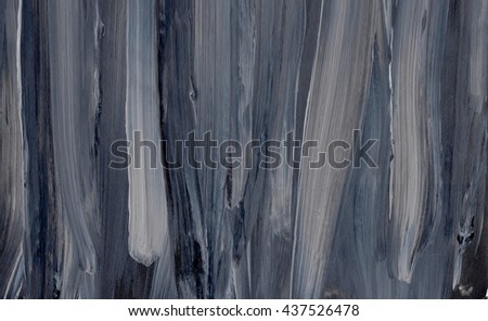 Black striped background on grunge paper texture. Abstract hand drawn watercolor background in black and grey, hand painted background.