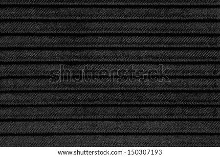 black striped fabric texture or background