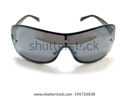 black sun glasses. Isolated on a white background