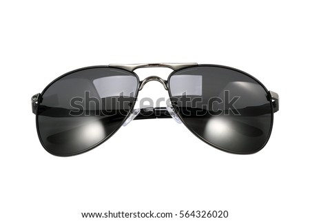black sunglasses in white background