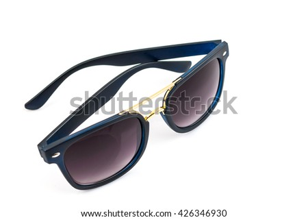 Black sunglasses isolated  a white background
