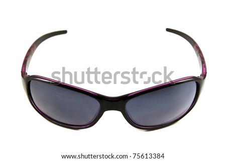 Black sunglasses isolated on white