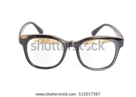 Black sunglasses isolated on white background.