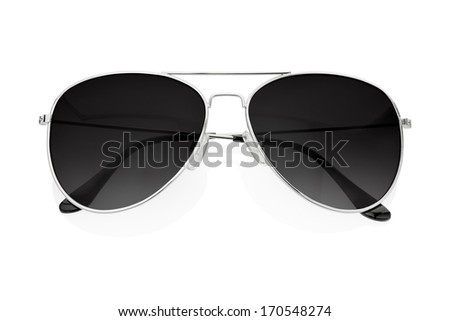 Black sunglasses isolated on white, clipping path included