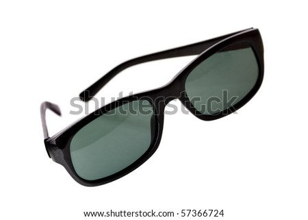 Black sunglasses isolated over the white background