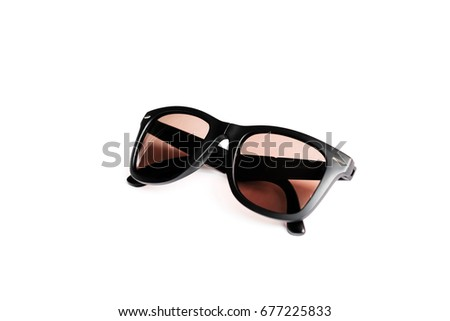 Black sunglasses with vintage style.