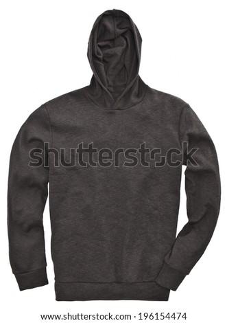 black sweatshirt isolated - stock photo