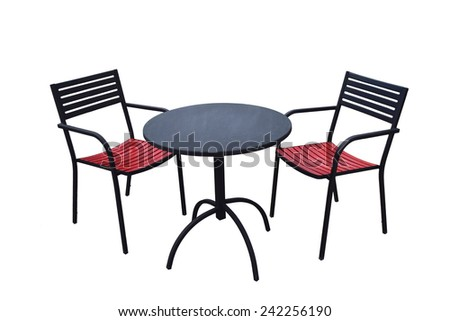 Black Table and Chair - stock photo