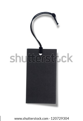 Black tag or label - stock photo