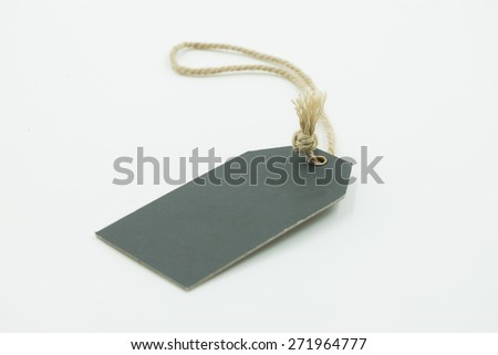 Black tag or label