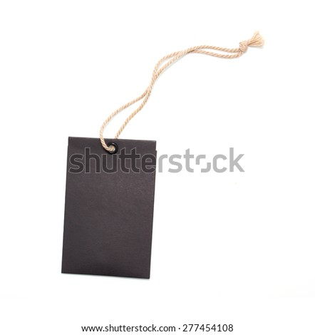 Black tag or label - stock photo