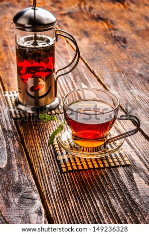 black tea in a cup - stock photo