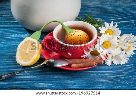 black tea with chamomile