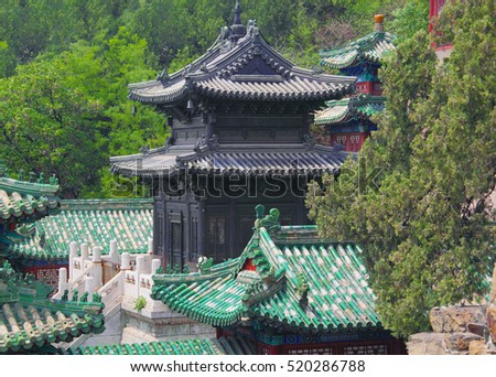 Black temple in the Summer palace in Beijing