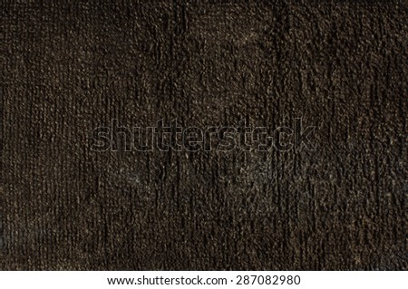 Black terry towel surface pattern - stock photo