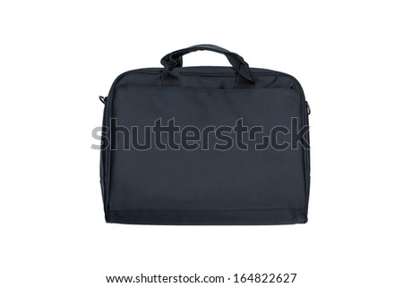 Black textile laptop briefcase