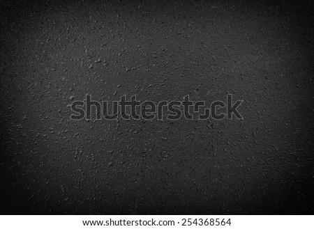 Black texture plastic, blur - stock photo