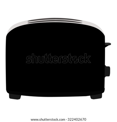 Black toaster, toaster icon, toaster isolated, toaster raster - stock photo