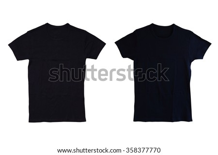 Black tshirt isolated