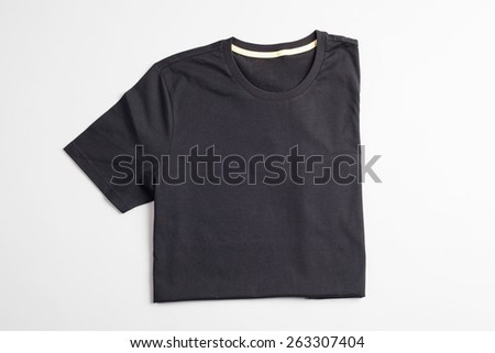 Black tshirt template ready for your graphic design. - stock photo