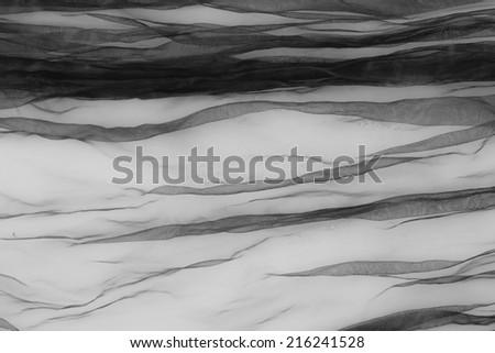 black tulle - stock photo