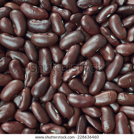 Black turtle beans texture background or pattern. Raw legume food. - stock photo