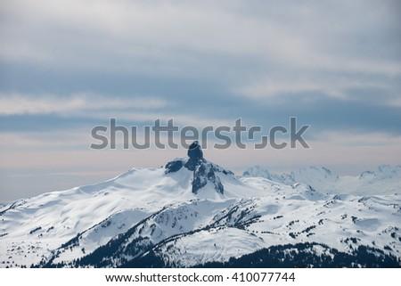 Black Tusk Mountain near Whistler, BC - stock photo