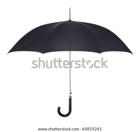 Black umbrella - stock photo