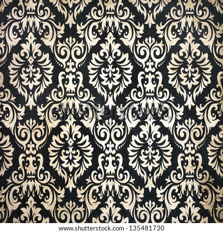 Black vintage background pattern - stock photo