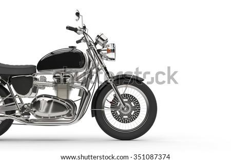 Black Vintage Bike - stock photo