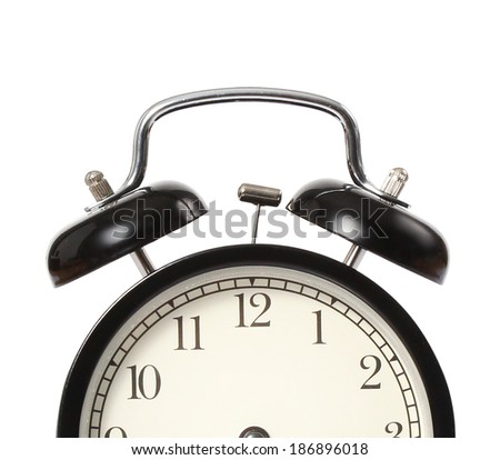 black Vintage the alarm clock