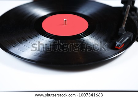 black vinyl record disc music hifi retro stock photo edit now