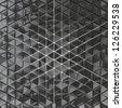 black vinyl triangles - stock photo