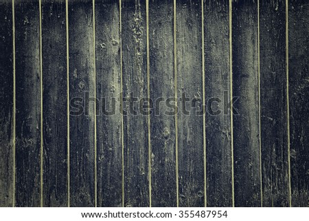 black wall wood texture background - stock photo