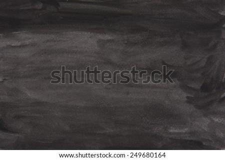 black watercolor background - stock photo