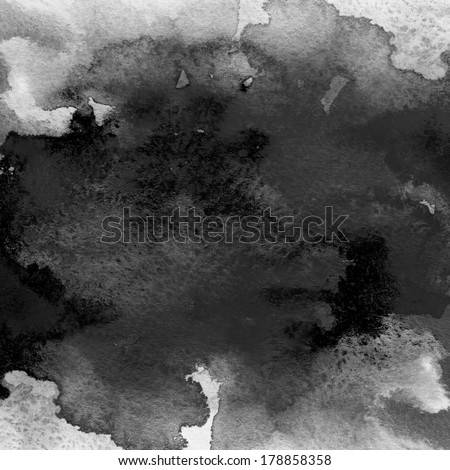 Black watercolor background. Aquarelle colorful texture.  - stock photo