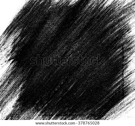 Black watercolor background painted by brush - stock photo