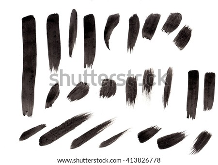 Black watercolor brushes