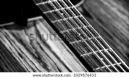 Black White BW Guitar Strings Detail Stock Photo (Royalty Free ...