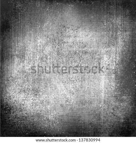 black white background paper old distressed vintage grunge background texture stained messy dirty background monochrome color canvas linen background material illustration, aged silver background gray - stock photo