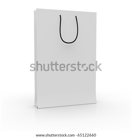 Black/White bag on white background