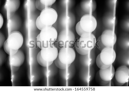 Black&white blurred lights in the night - stock photo