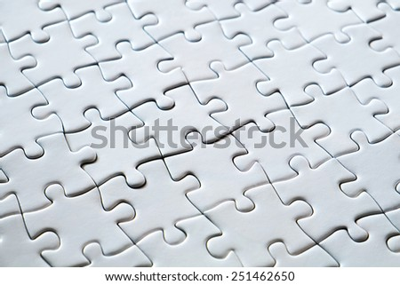 Black white jigsaw puzzle for background or textures